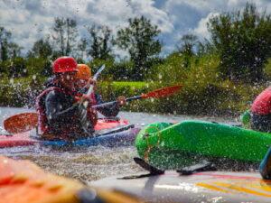 Splashing fun kayaking
